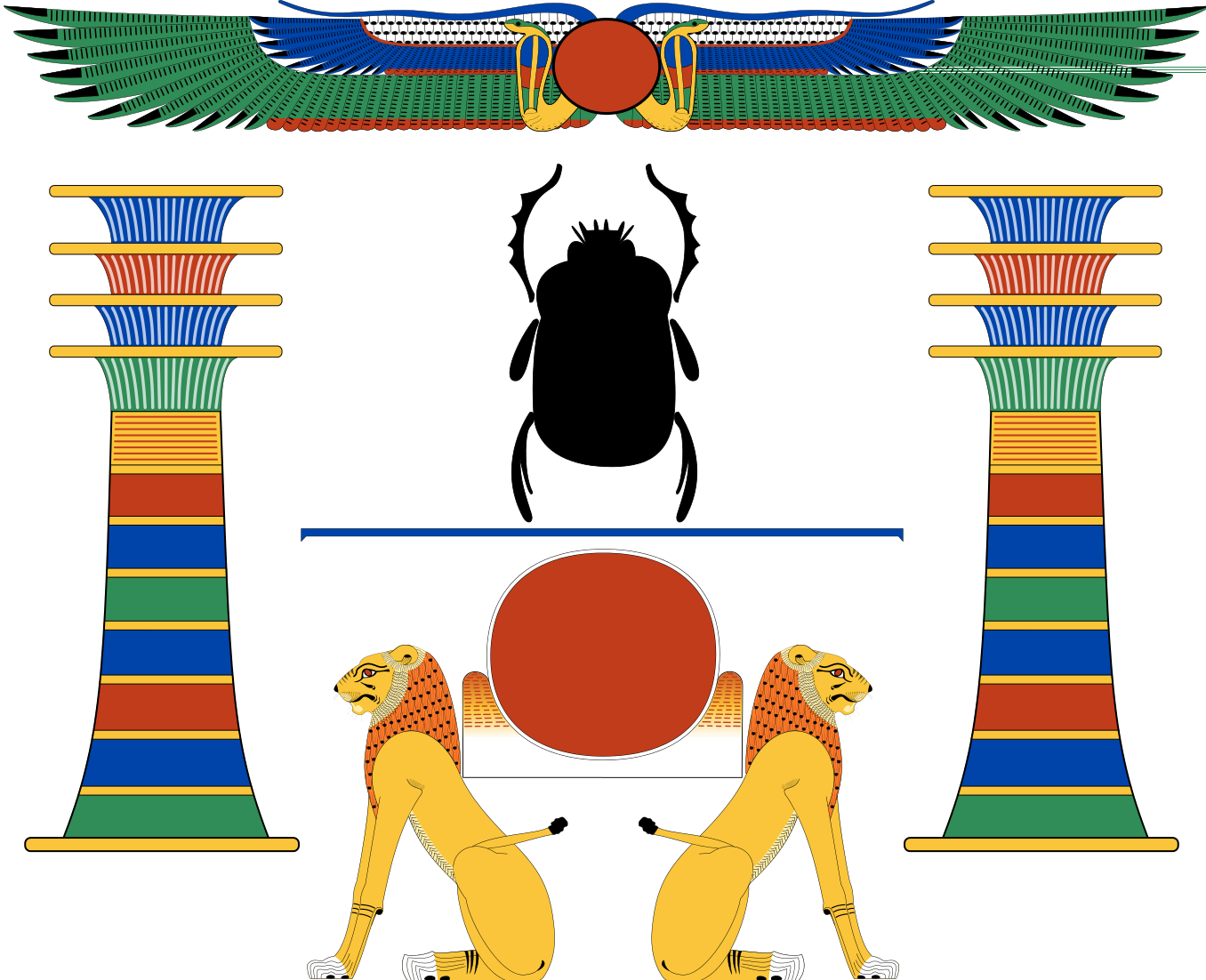 Clipart sun egyptian. Winged horus behedeti ancient