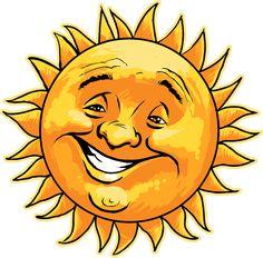 Clipart sunshine face. Smiling sun panda free