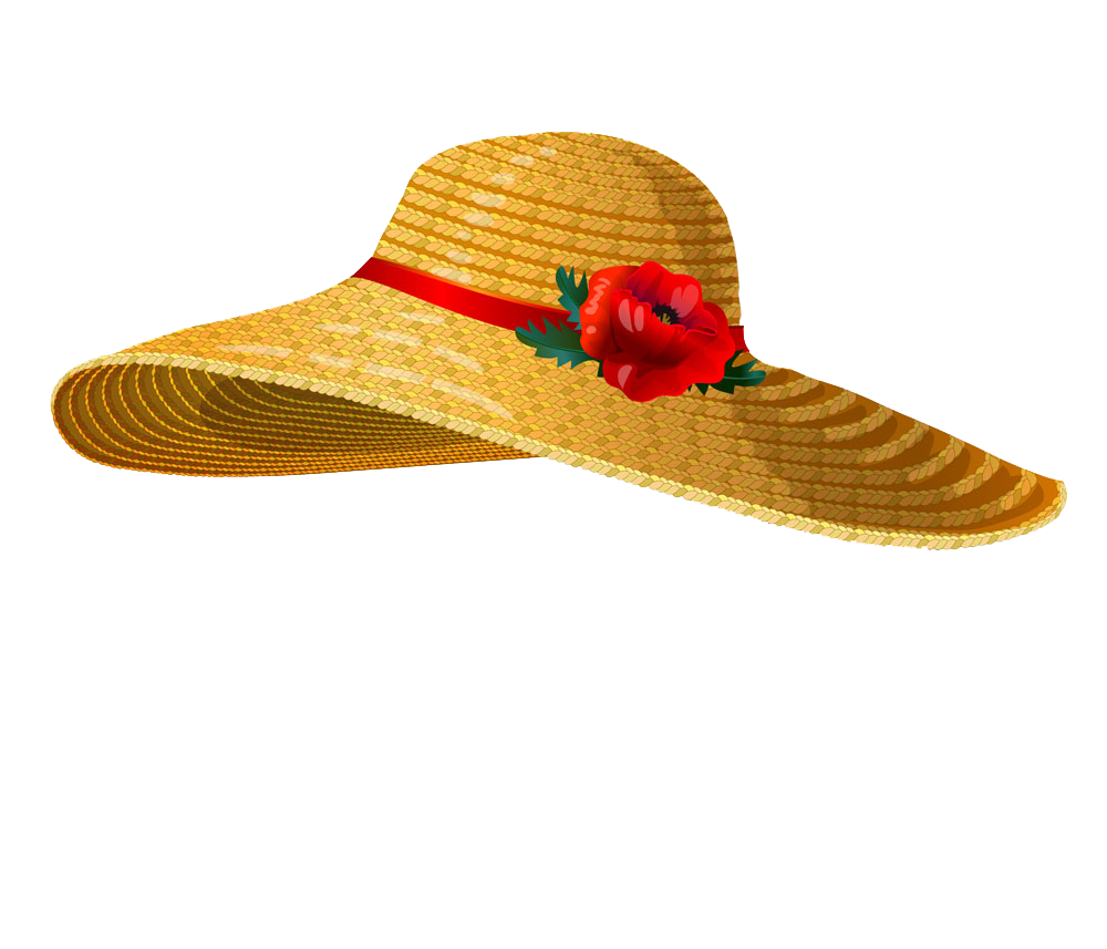 Clipart sun female. Straw hat stock photography