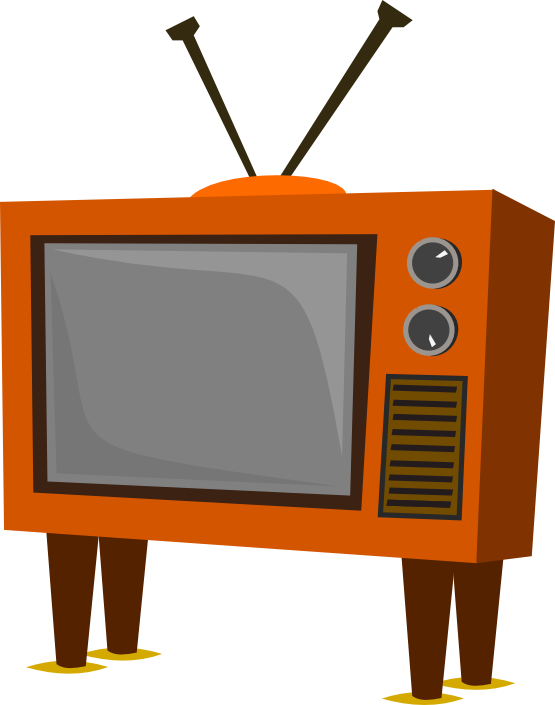Clipartist net clip funky. Clipart tv line art