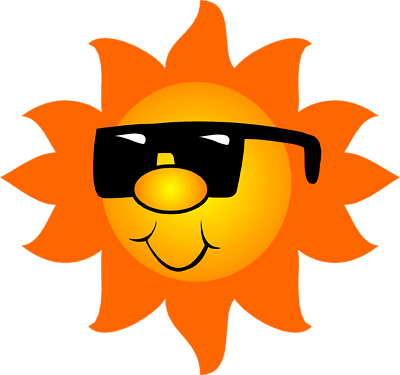 Clipart sunshine orange. Free sun with sunglasses