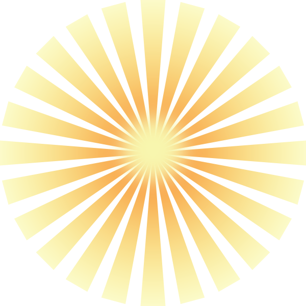 Sunset clipart ray. Golden solar rays clip