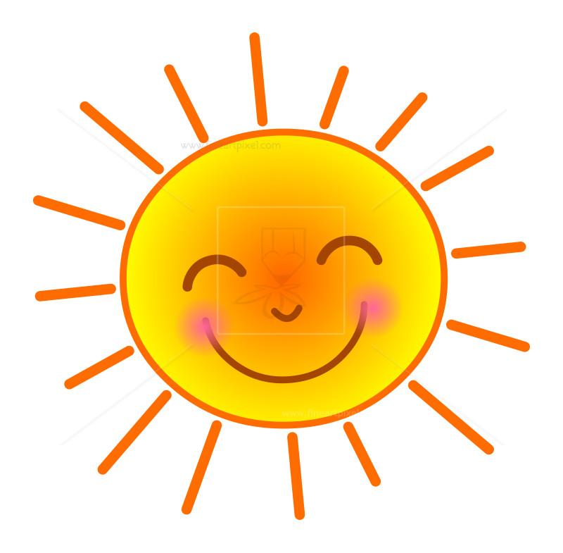 Clip art free vectors. Clipart sun happy