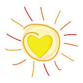 Clip art arts for. Clipart sun heart