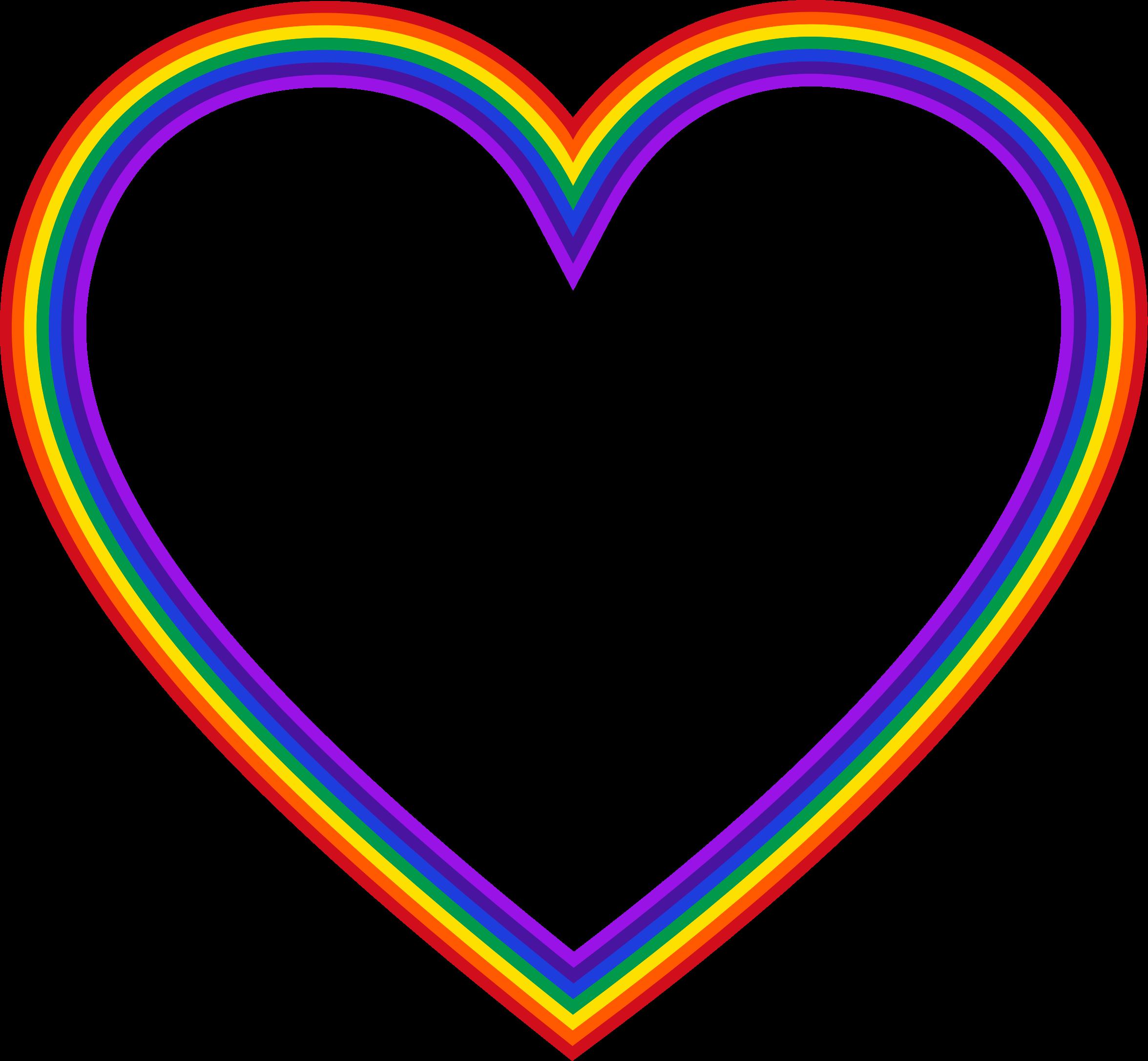 Heart clip art clipart. Rainbow hearts png