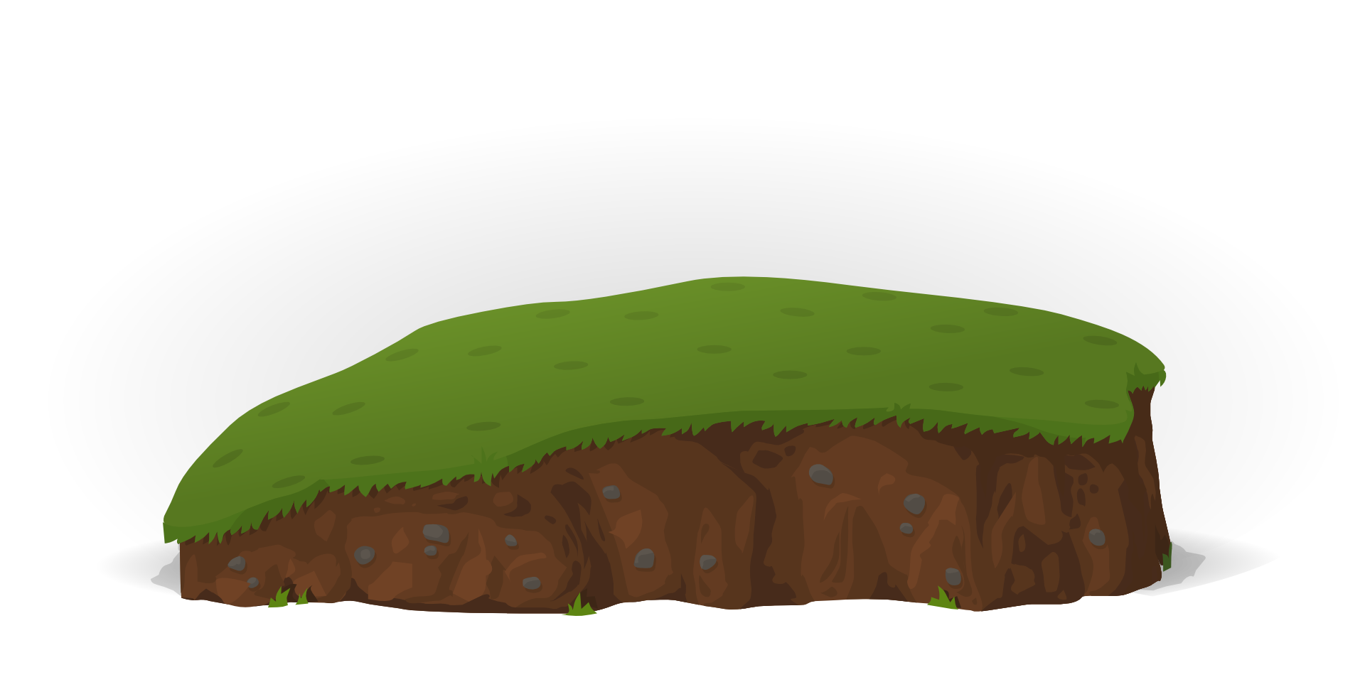 Hills clipart outside. Grass on hill isolated