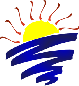 Sun set clip art. Sunset clipart sunrise service