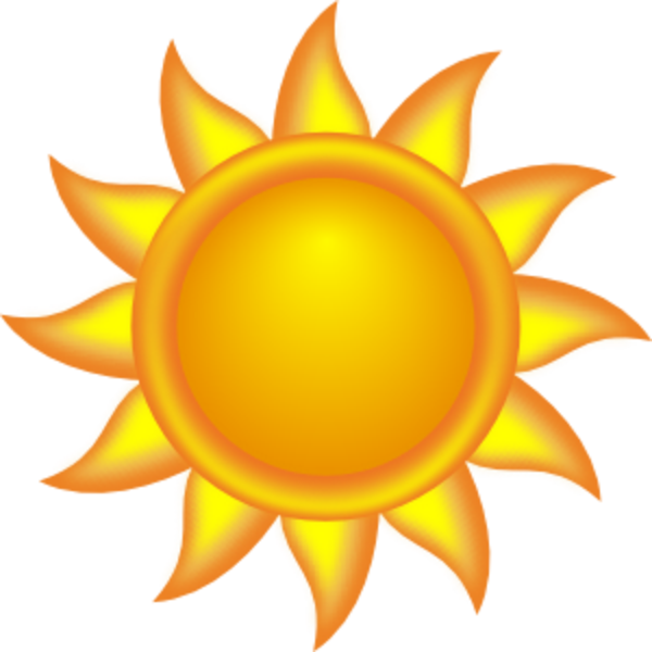 Sunny clipart object. Sunlight free content clip