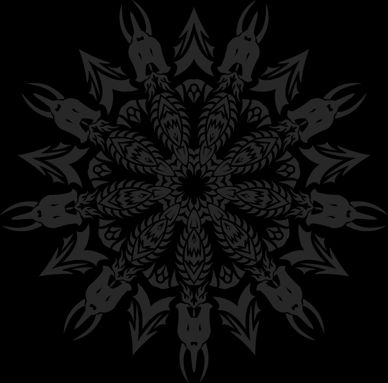 Wolf clipart mandala. Tribal icons png free