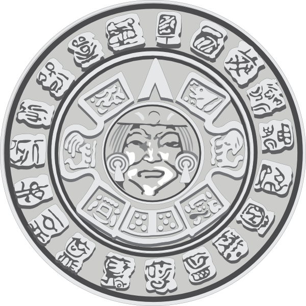 Maya clip art at. Clipart sun mayan