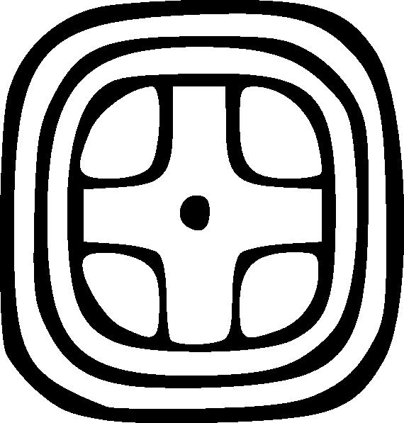 Clipart sun mayan. Maya glyph yellow clip