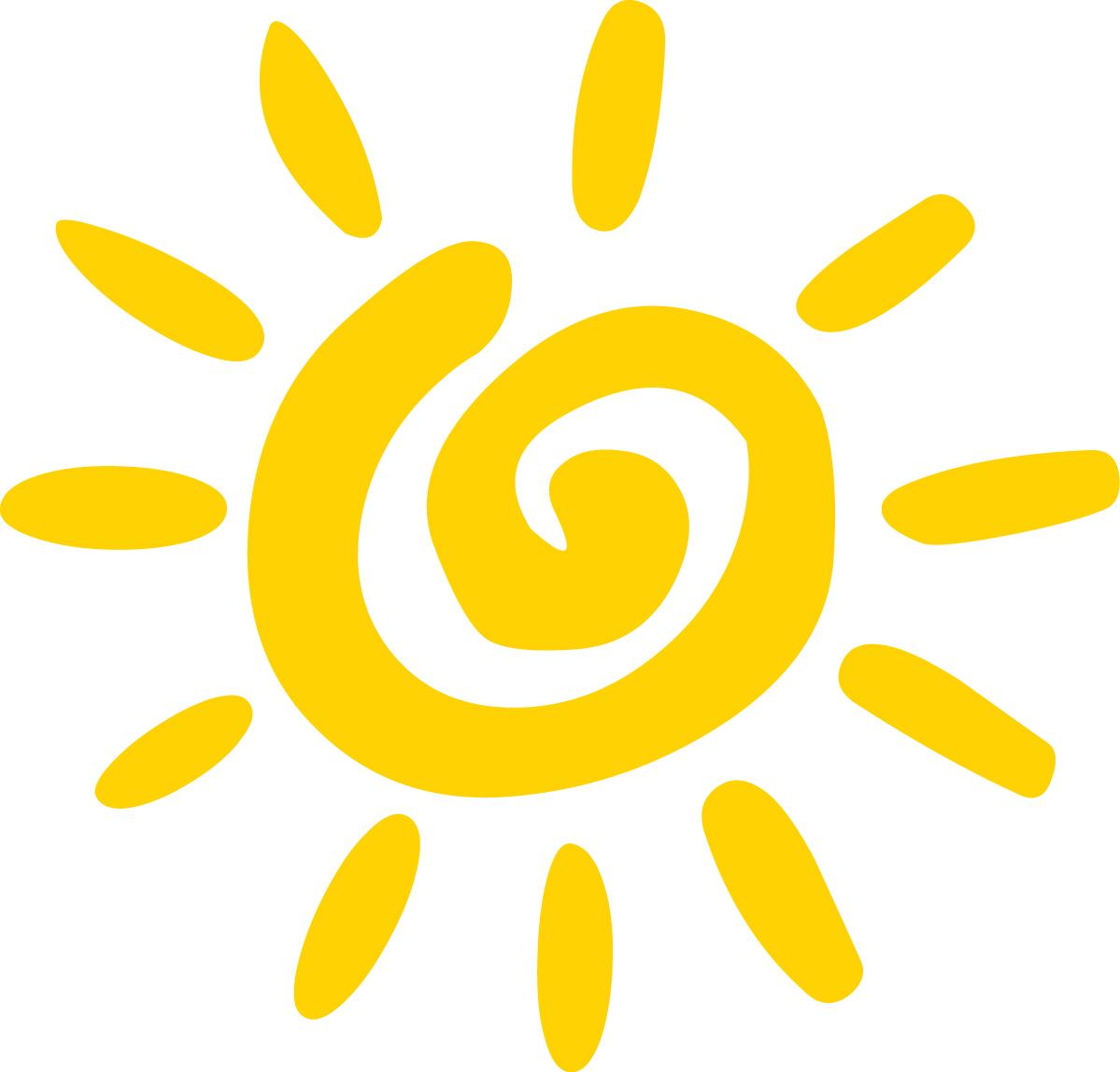 Good morning sun clipartix. Clipart sunshine word art