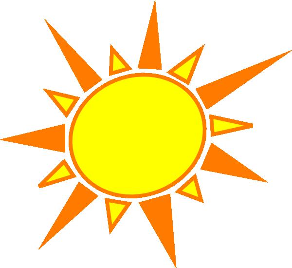 Clipart sun orange. Yellow and clip art