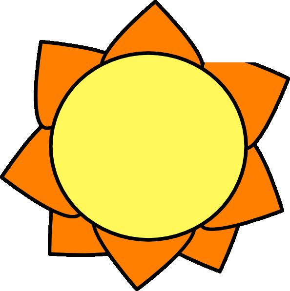 Yellow clip art at. Clipart sun orange