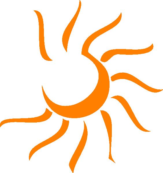 Clip art at clker. Clipart sun orange
