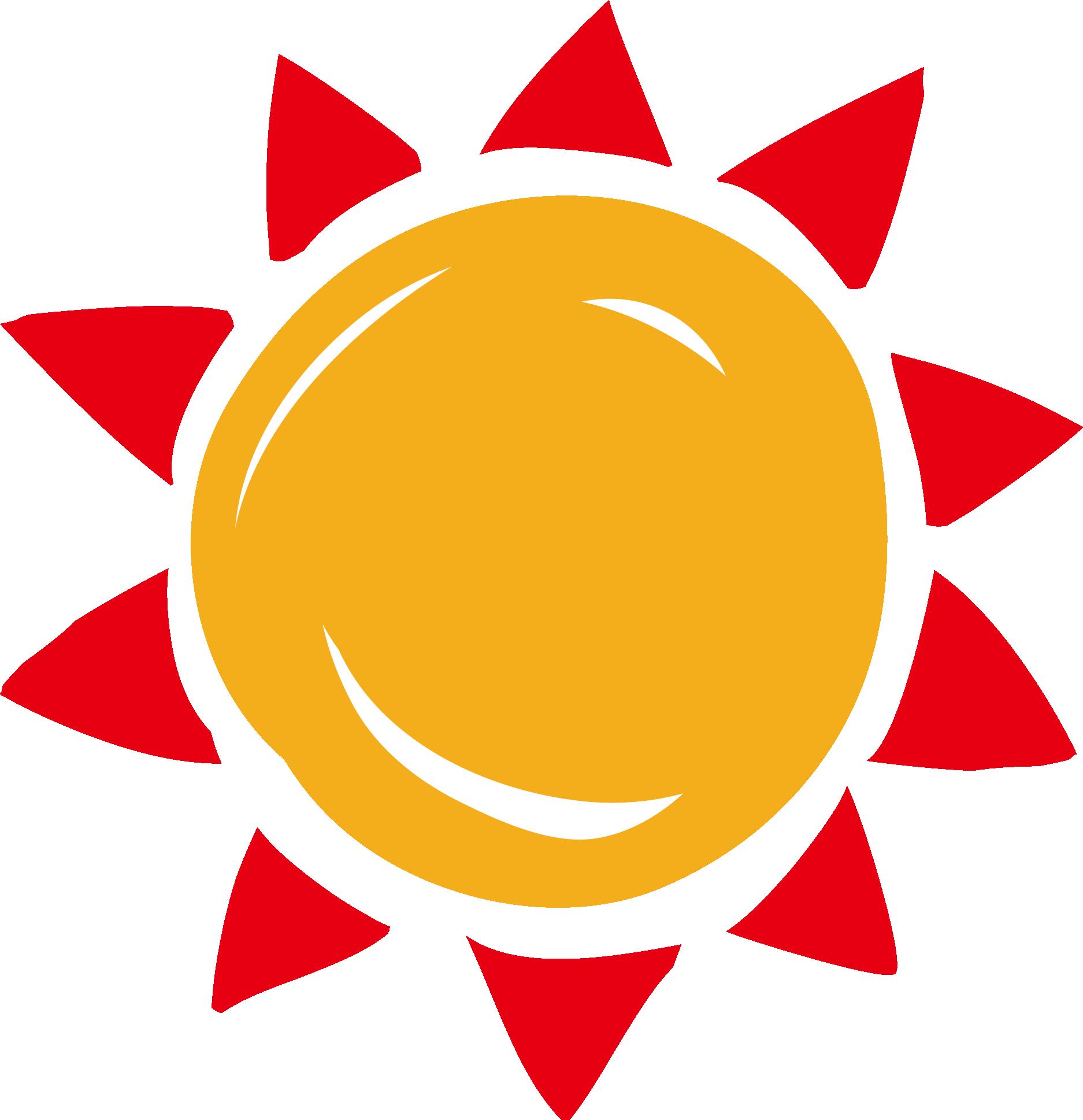 Clipart sun orange. Sunlight clip art cartoon