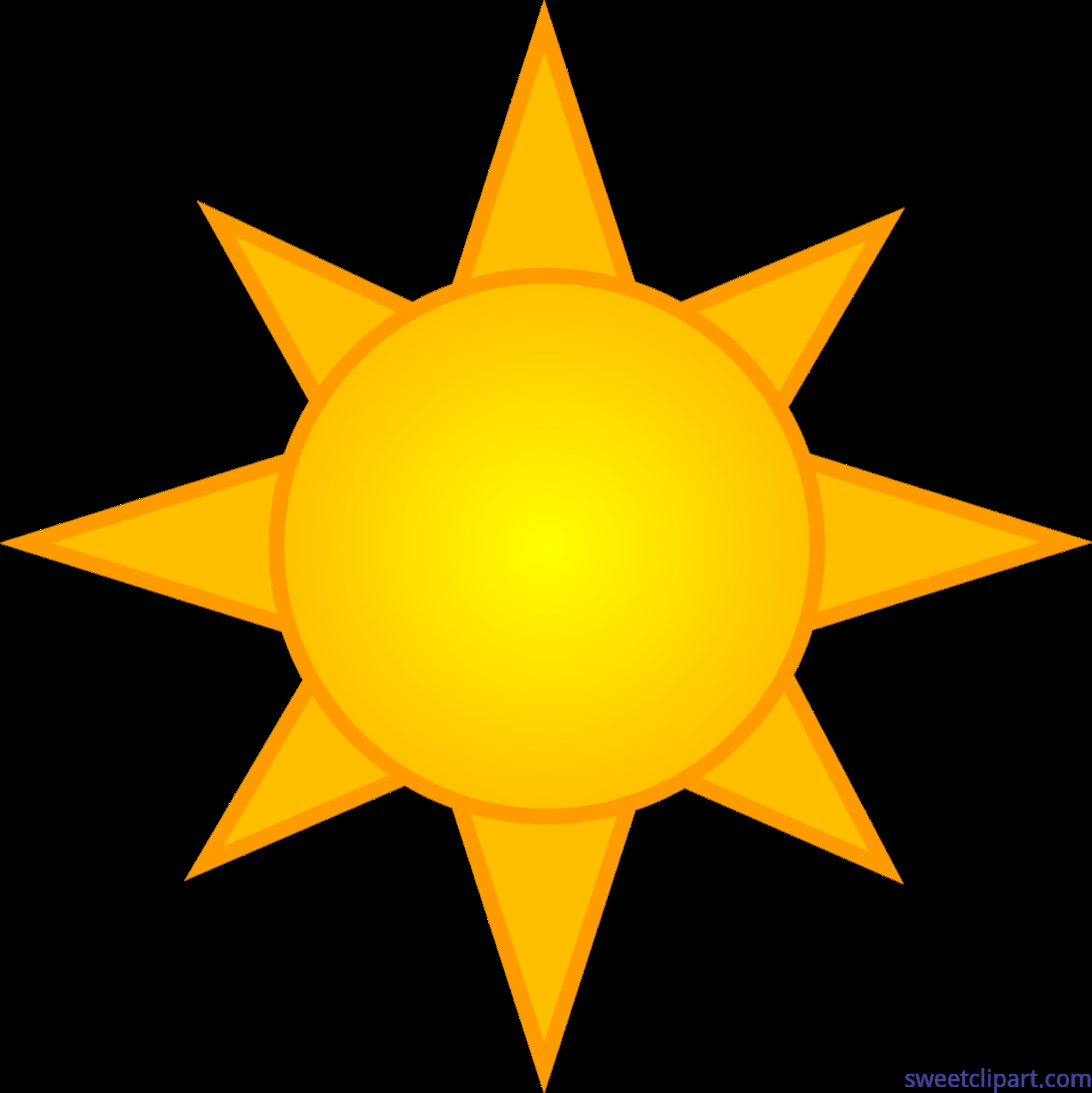 Yellow symbol clip art. Clipart sun orange