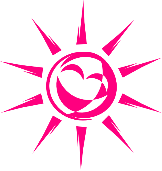 Smiling clip art at. Clipart sun pink