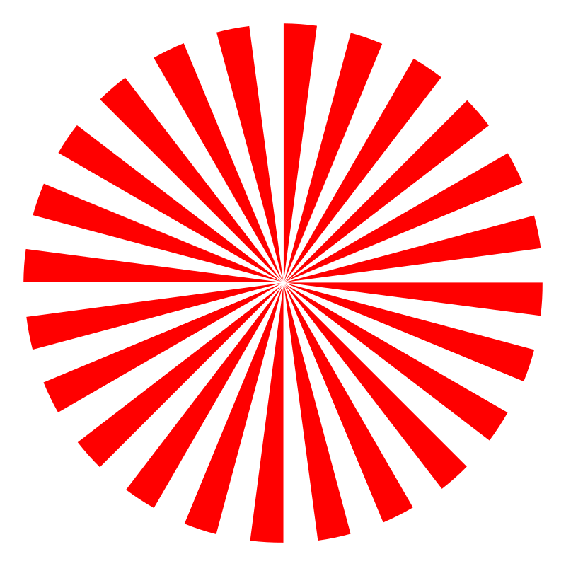 Abstract rays medium image. Clipart sun pink