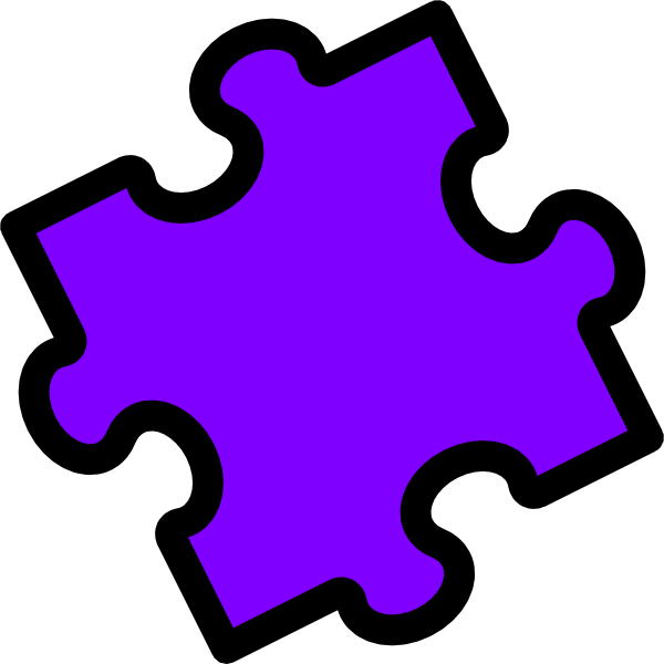 Puzzle clipart purple. Piece clip art at