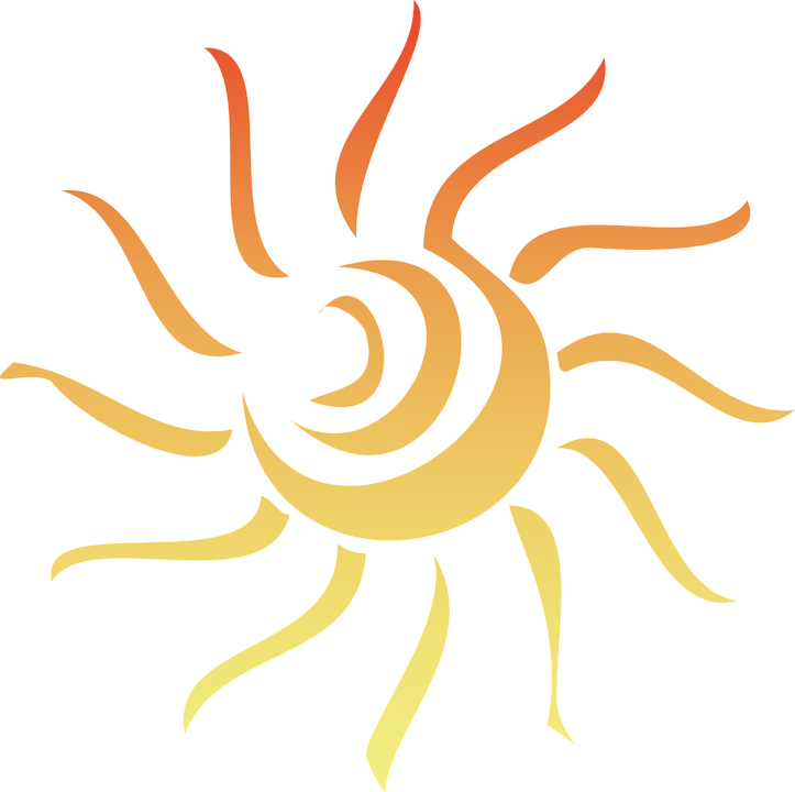 Clipart sun quarter. Graphic group free vector