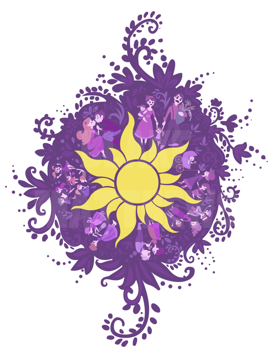 collection of tangled. Clipart sun rapunzel