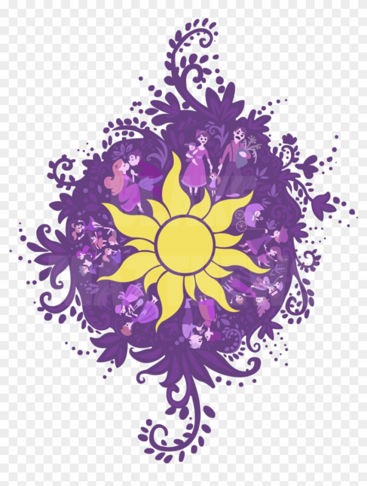 Clipart sun rapunzel. Tangled nohat