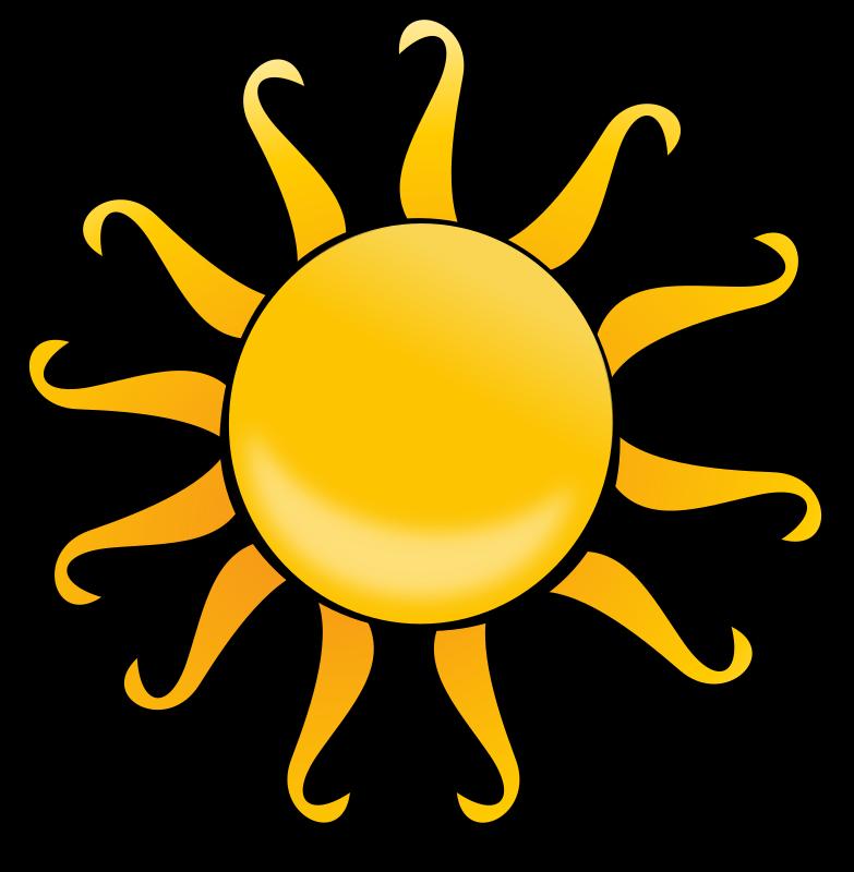 Clipart sun side. Cartoon medium image png