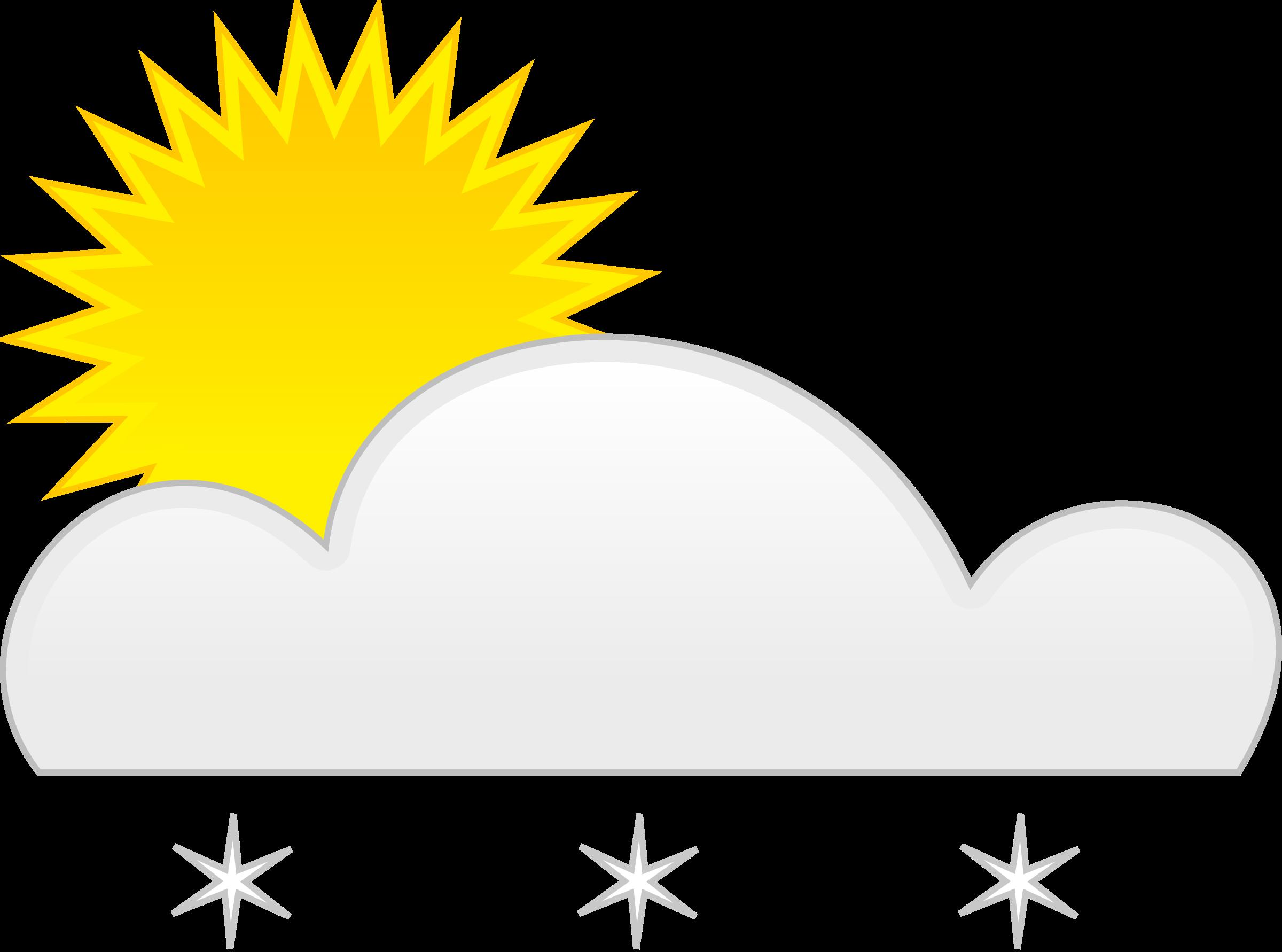 Clipart sun snow. Big image png