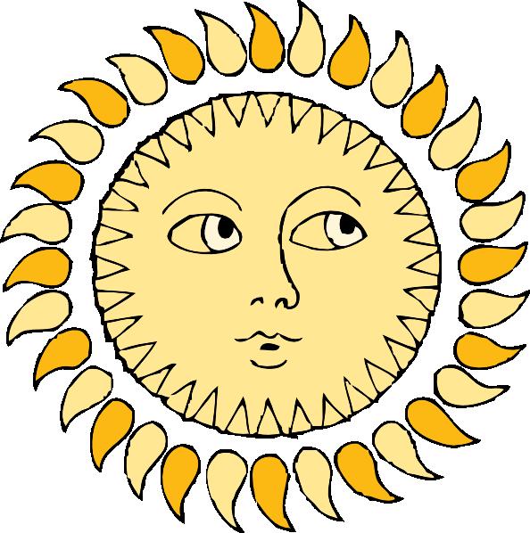 With face clip art. Clipart sun snow