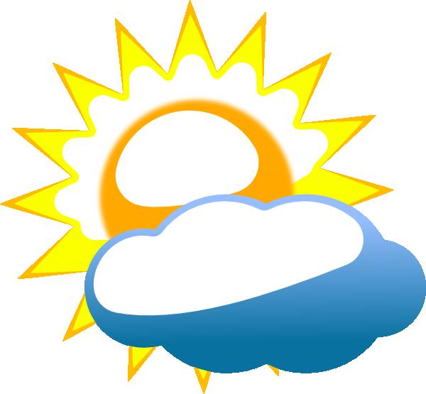 Cloudy Sun Clip Art at Clker