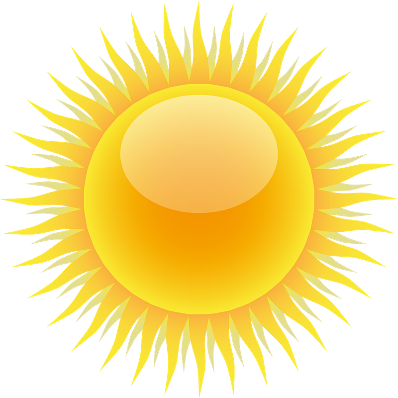 Realistic pencil and in. Clipart sun space