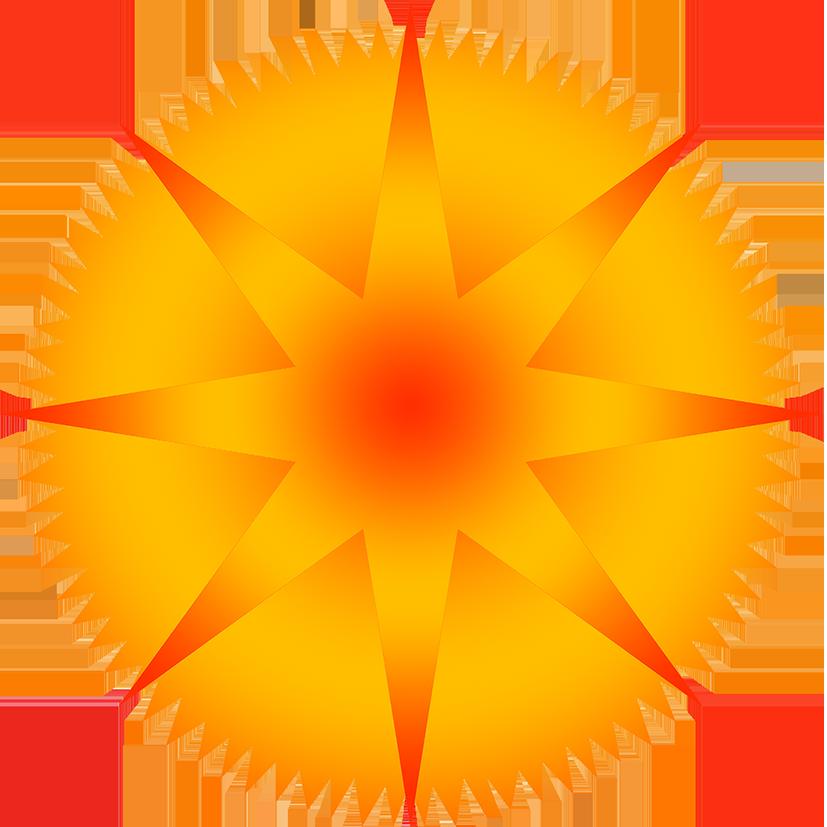 Clipart sun stars. Star blue with rays