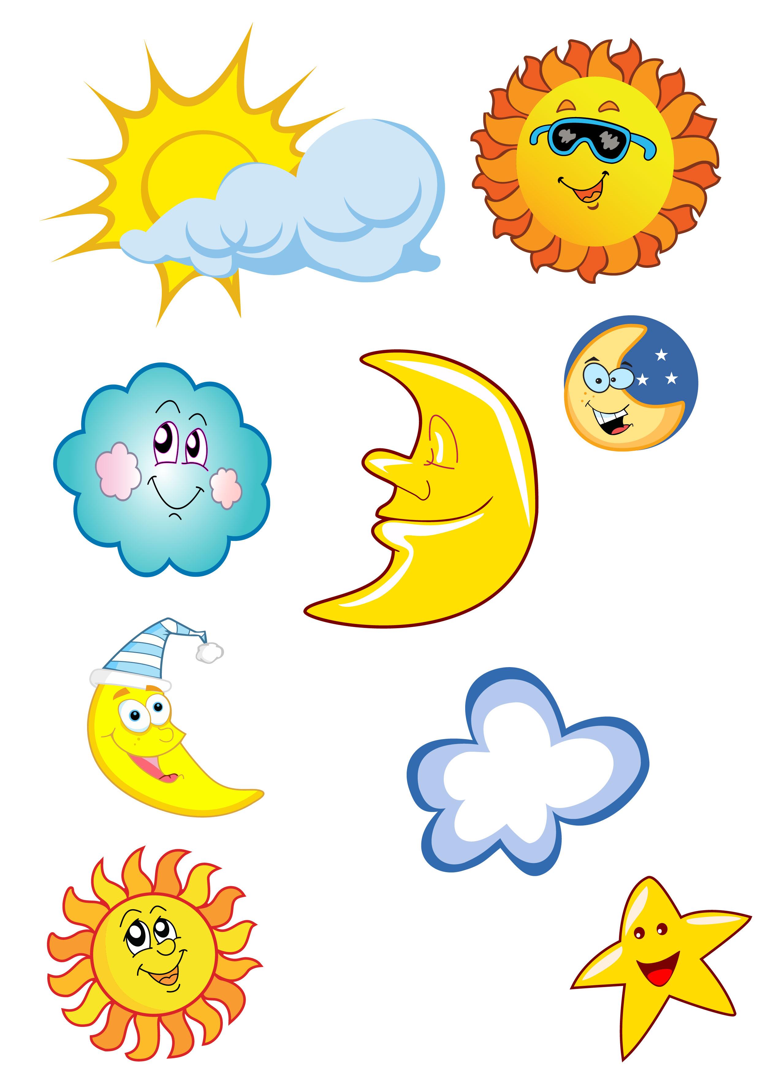 Clipart sun stars. Cartoon moon free image