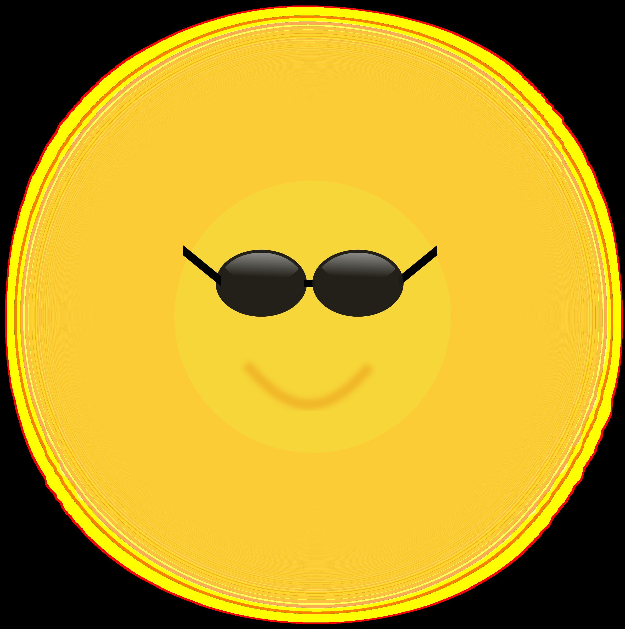 Sunglasses clipart cartoon. Cool sun big image
