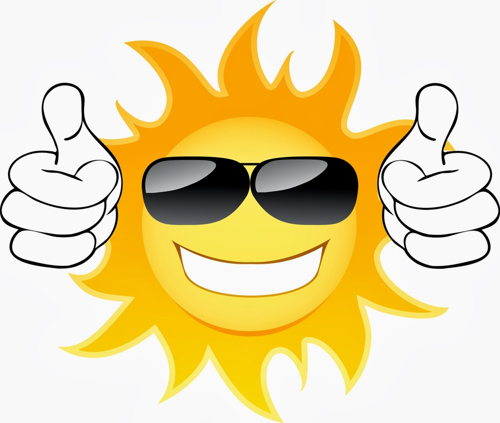 Sun with clip art. Sunny clipart cool sunglasses