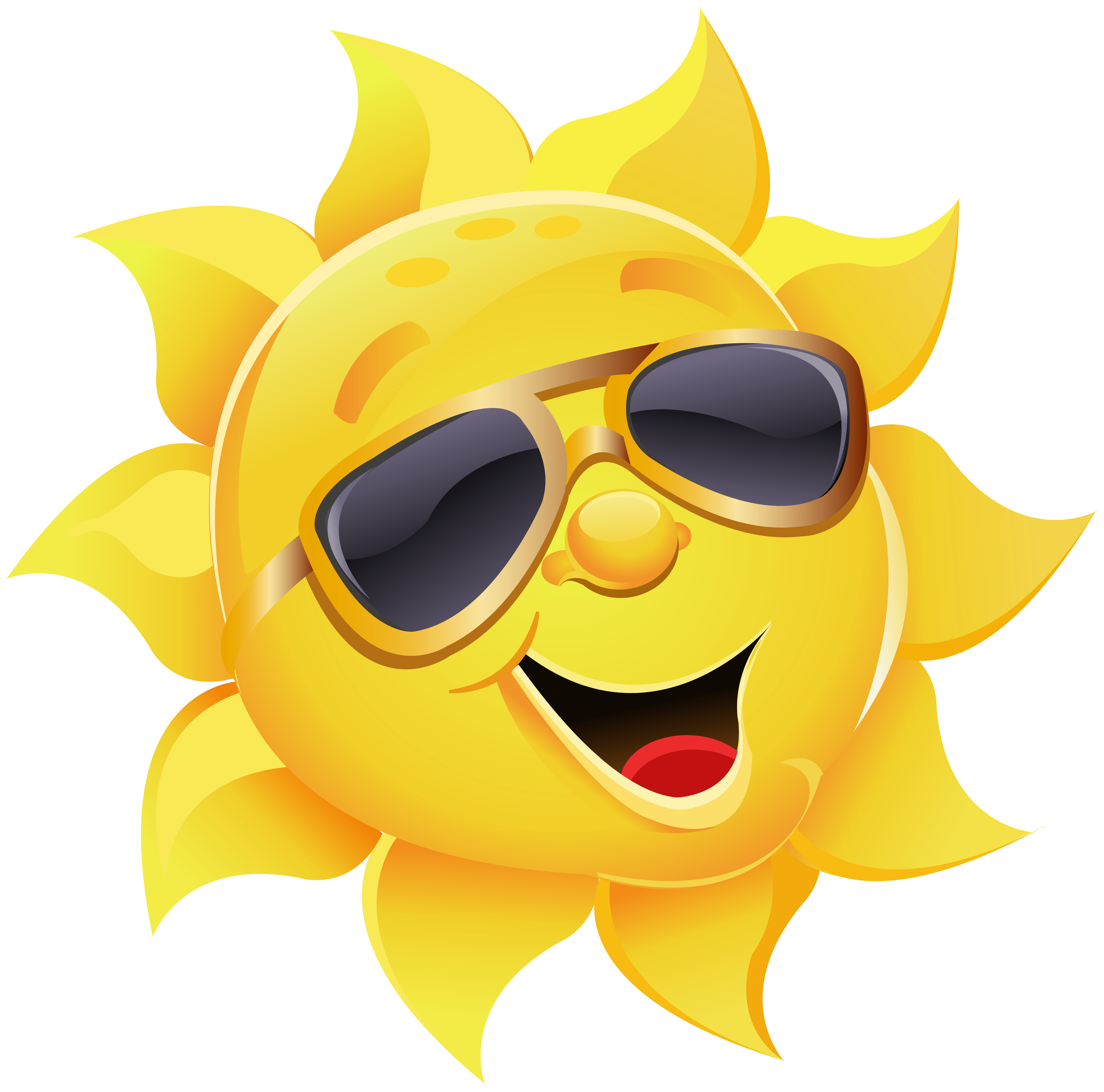 Sunglasses clipart cartoon. Sun with png image