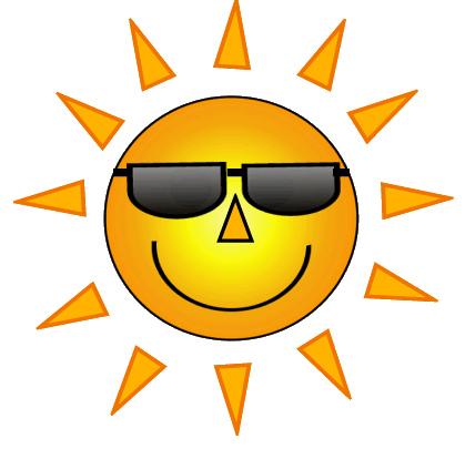 Free sun with sunglasses. Sunny clipart shades