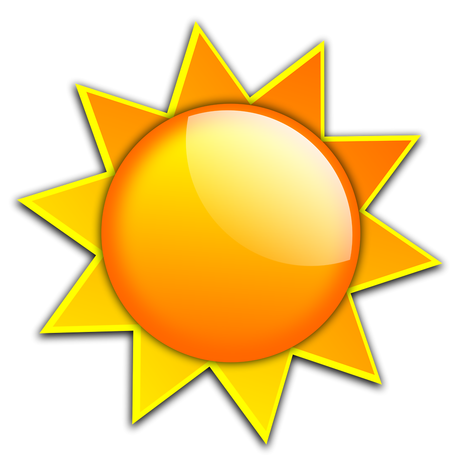 Enjoy your day memorial. Sunny clipart illustration