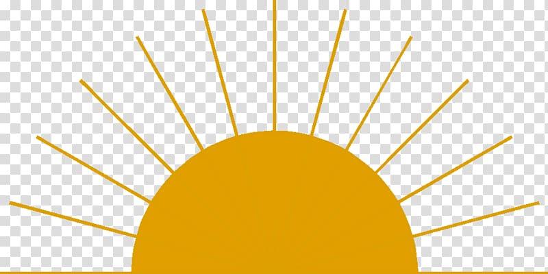 Orange sun transparent background. Clipart sunshine sunrise