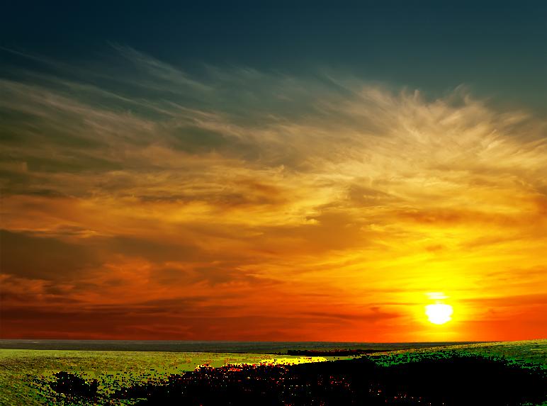 Clouds sun background ftestickers. Sunset clipart sunset sky