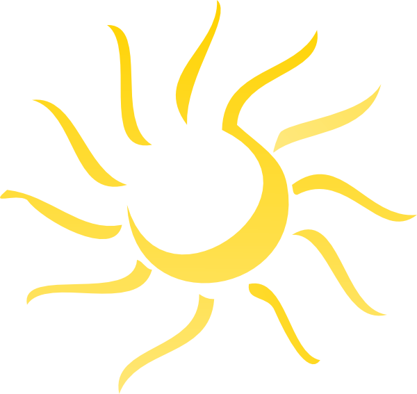 Abstract revised clip art. Clipart sun sunset