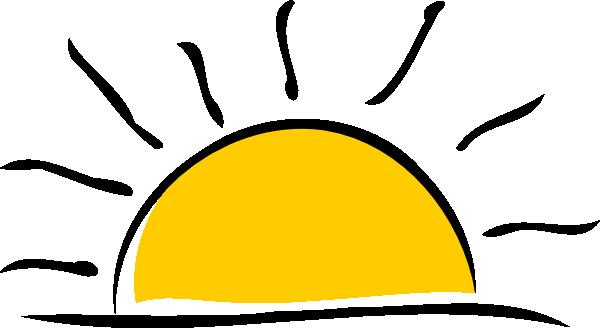 Clipart sun sunset. Clip art at clker
