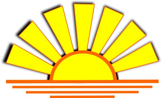 Sunset clipart sundown. Sun set clip art