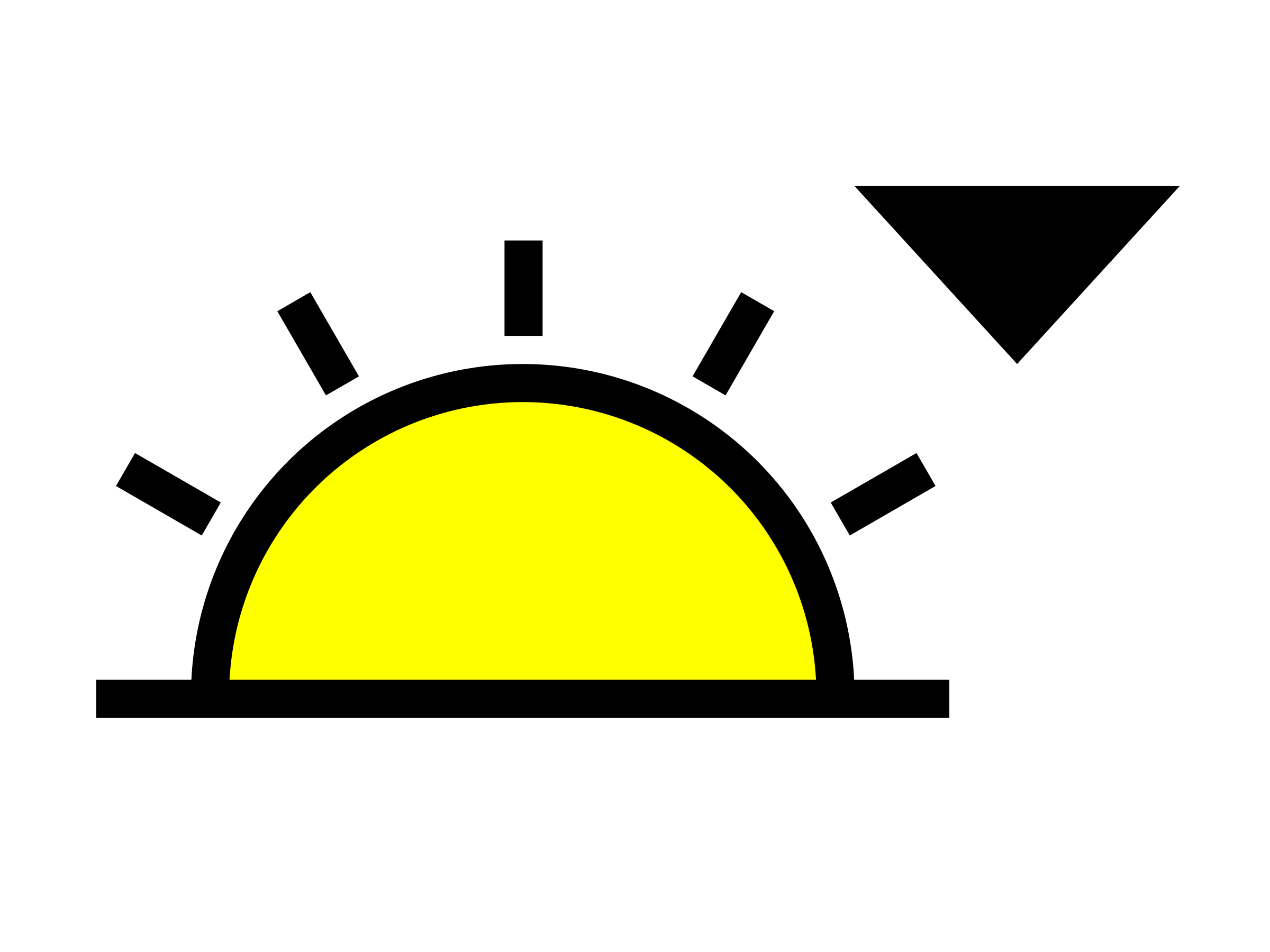 sunset clipart sun set