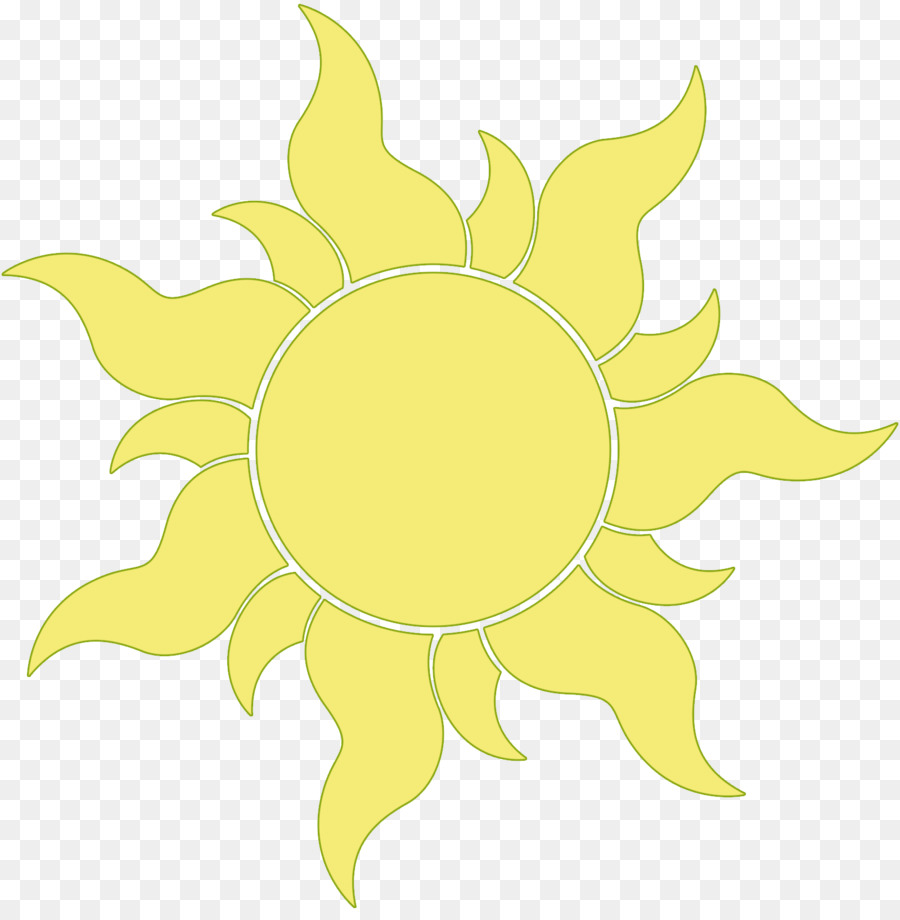 Clipart sun tangled. Drawing flower yellow transparent