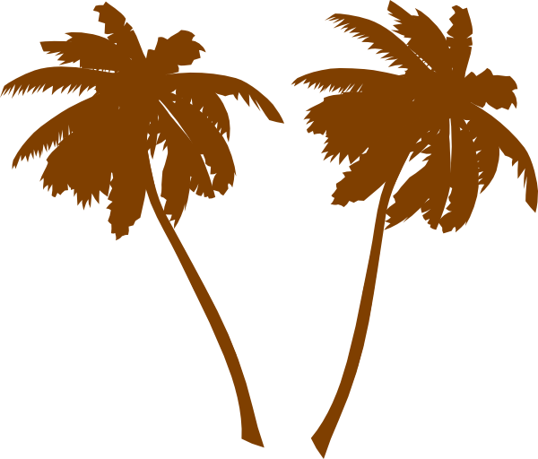 Palm clipart pom tree. Silhouette clip art at