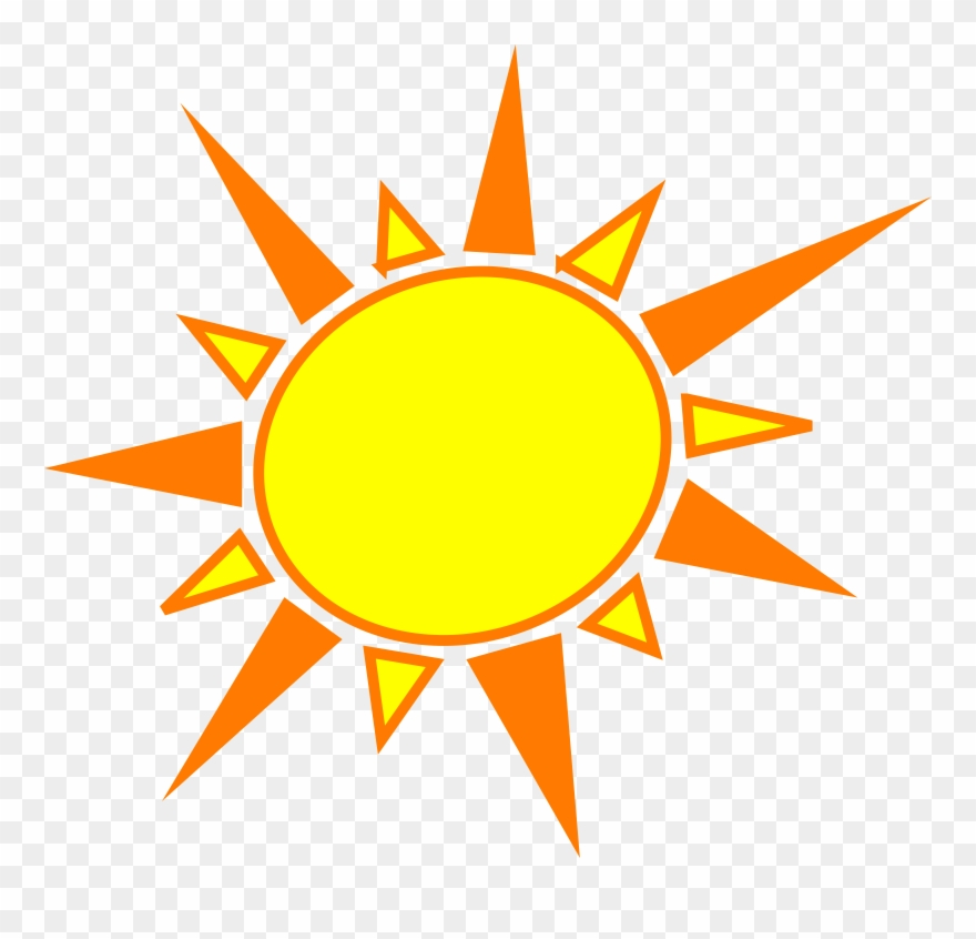 Clipart sun tropical. Sunshine yellow and orange