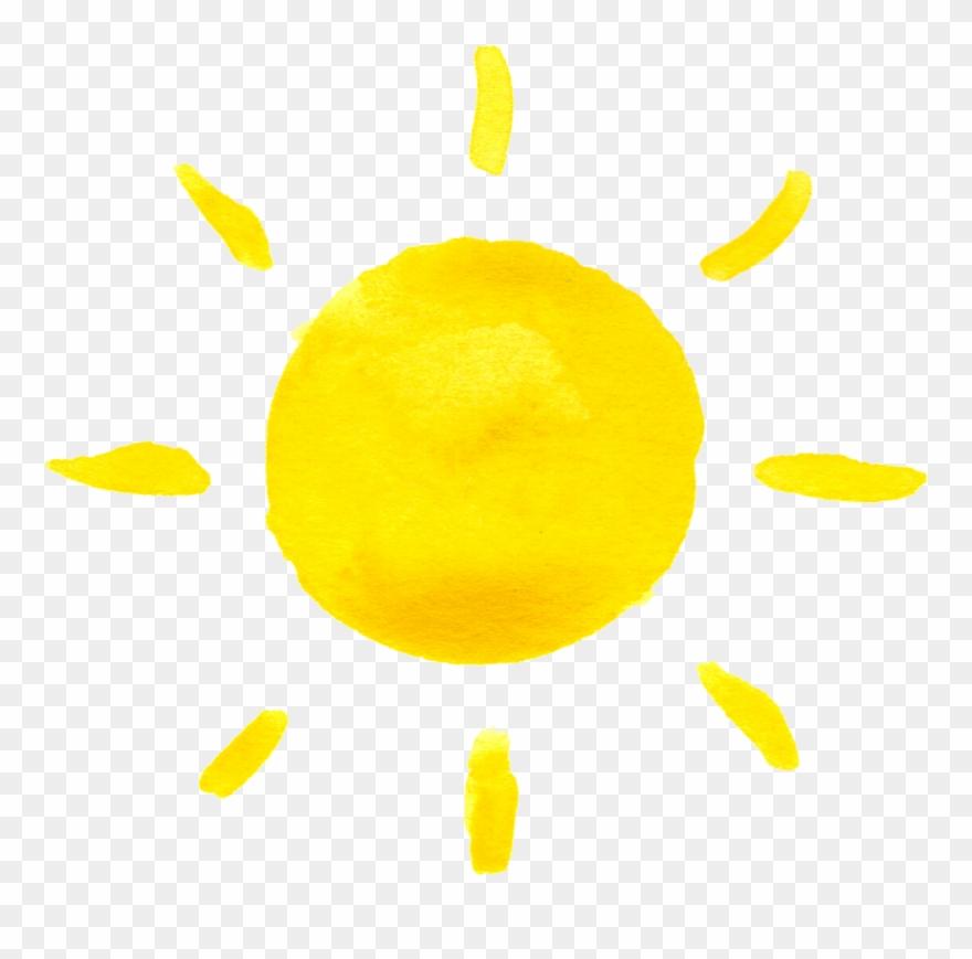 sun pinclipart. Clipart sunshine watercolor