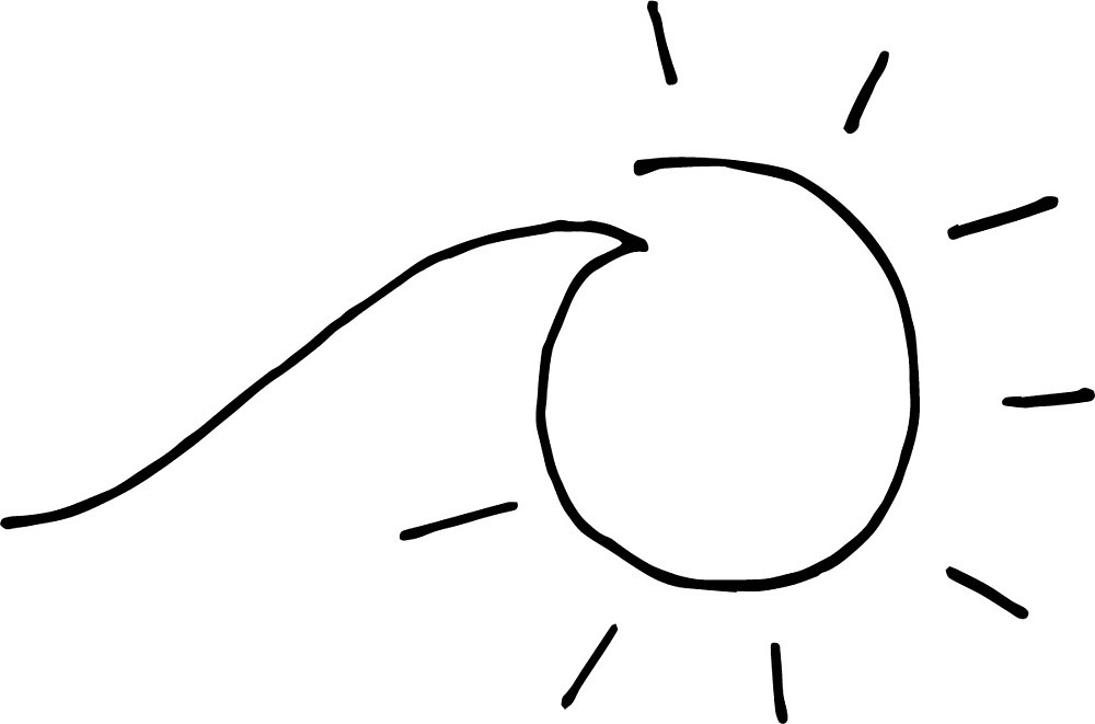 Clipart sun wave. A little drawing by